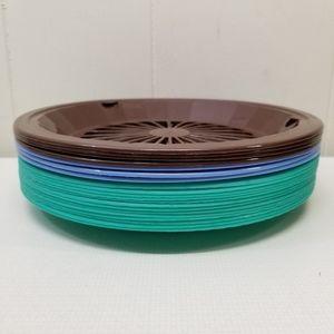 20 Green Plastic Paper Plate Holders Picnic BBQ